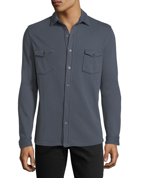 Cotton Patch-Pocket Overshirt