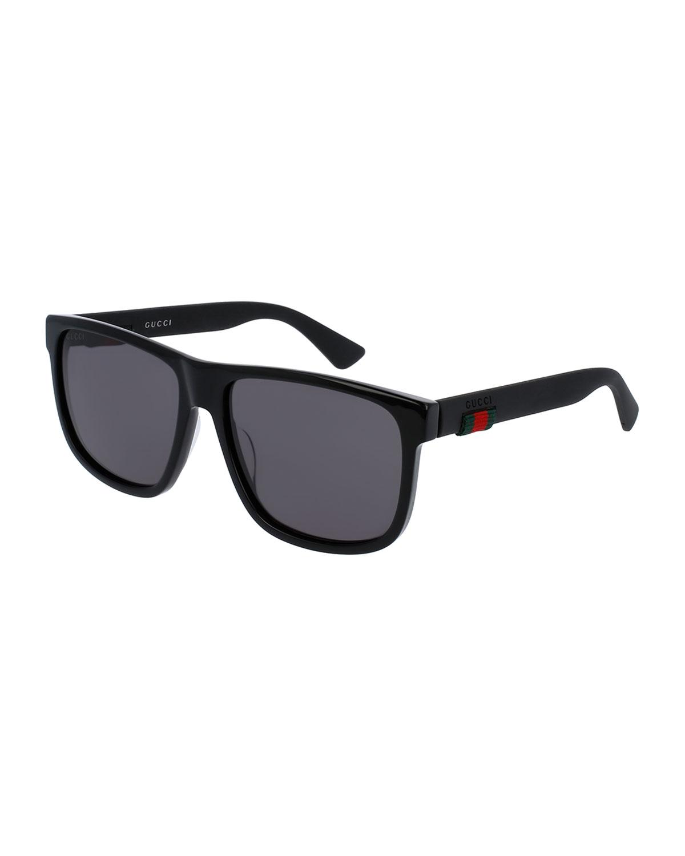 cae5271efabb Quick Look. Gucci · Square Acetate Sunglasses