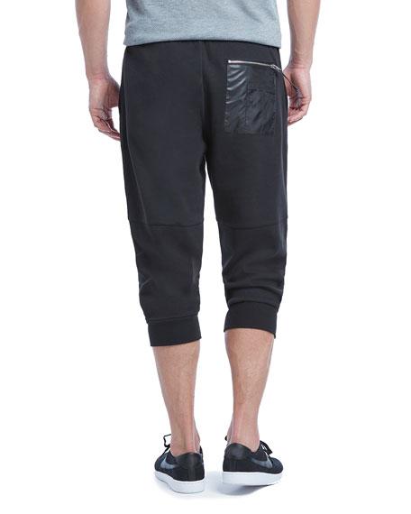 Military Sport Crop Sweatpants