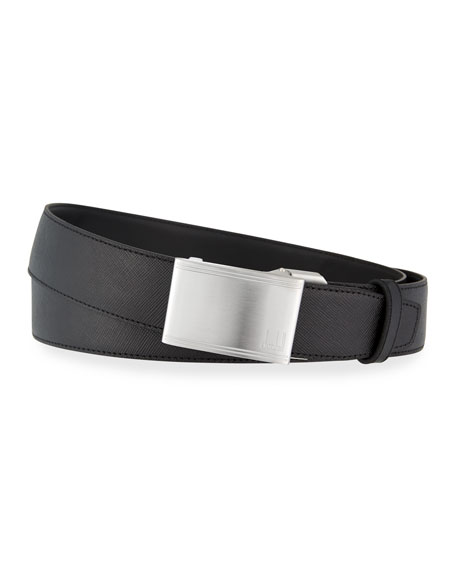 Automatic-Buckle Leather Belt