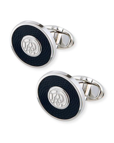 AD Disk Cuff Links, Blue