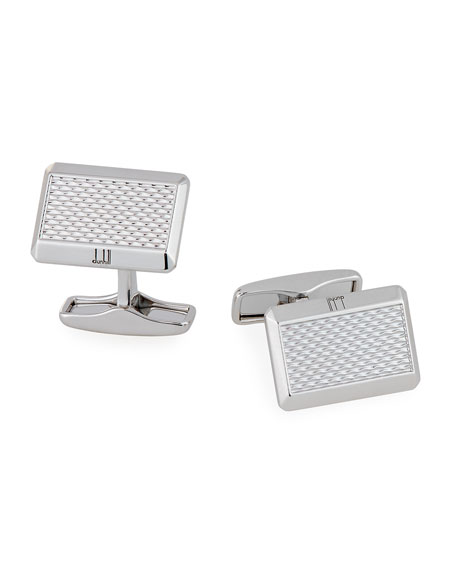 Faceted Barley-Inspired Cuff Links