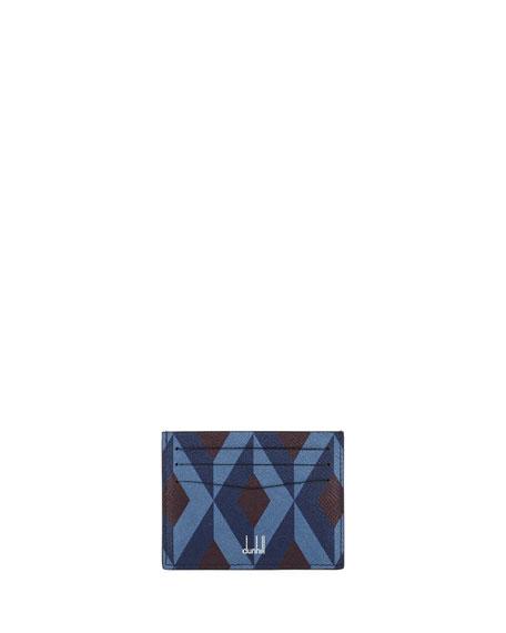 dunhill Cadogan Diamond-Print Business Card Case