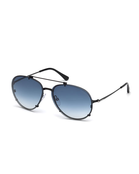 TOM FORD Dickon Gradient Aviator Sunglasses