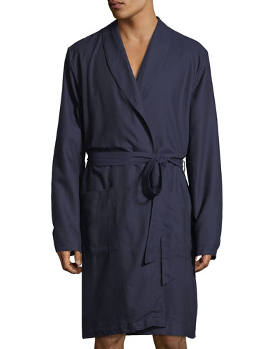 Select Cotton Shawl-Collar Robe
