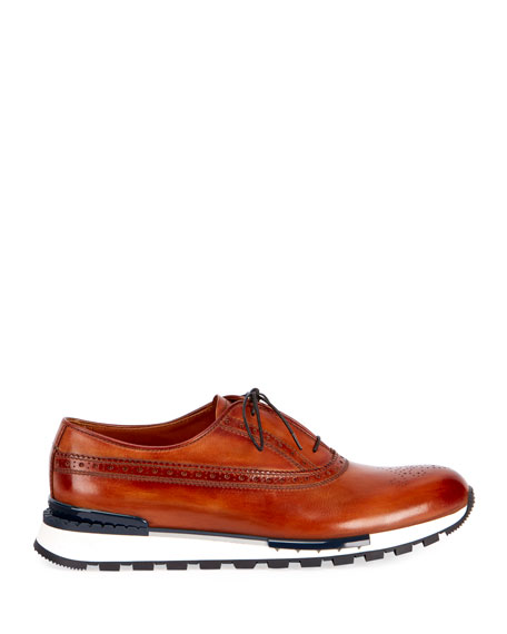 Men's Venezia Leather Brogue Sneakers