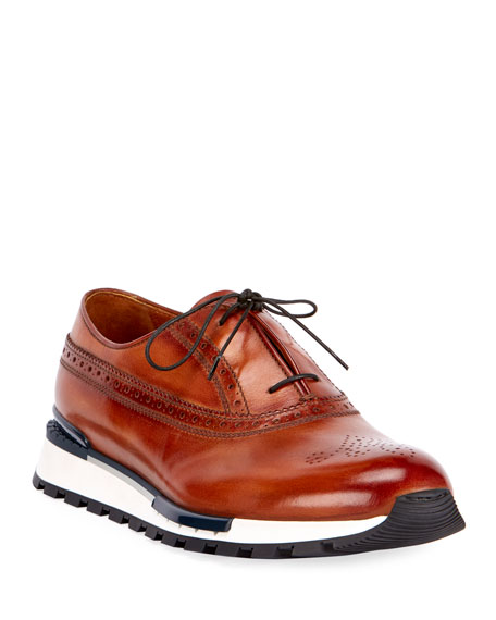 Berluti Venezia Leather Brogue Sneaker