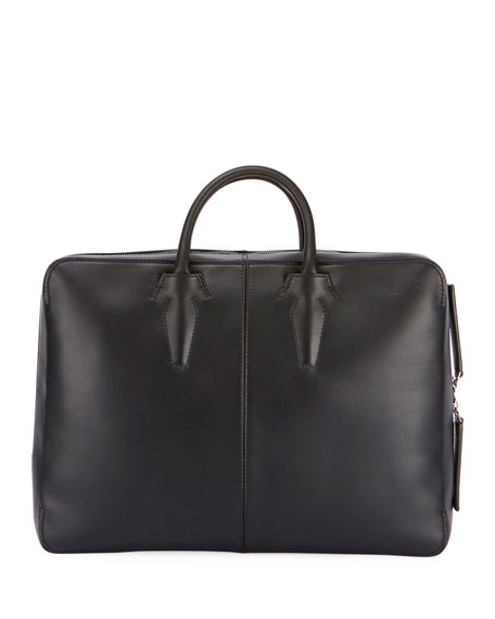 Spy Leather Briefcase Convertible Backpack