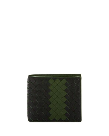 Striped Woven Bi-Fold Wallet