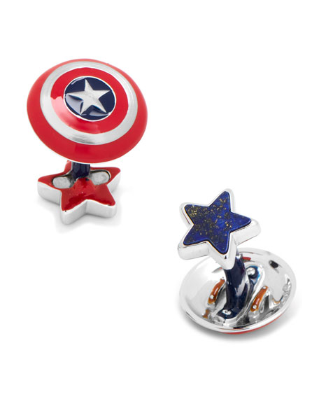 Cufflinks Inc. 3D Captain America Cuff Links