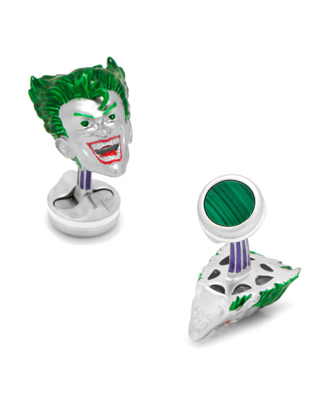 Cufflinks Inc. 3D Joker Sterling Silver Cuff Links