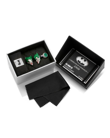 3D Joker Sterling Silver Cuff Links