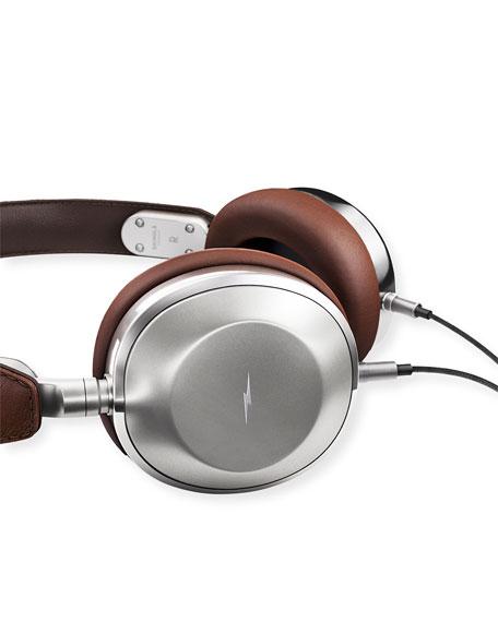 Leather On-Ear Headphones, Brown