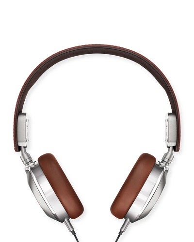Leather On-Ear Headphones, Brown