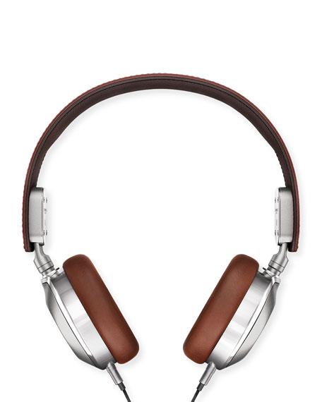 Men's Leather On-Ear Headphones, Brown