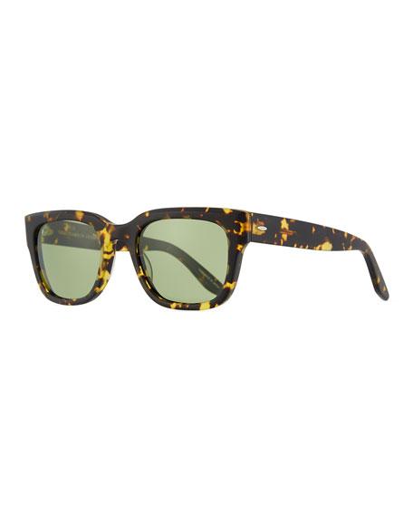 Barton Perreira Stax Square Tortoiseshell Sunglasses