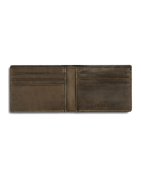 Men's Slim Leather Bi-Fold Wallet