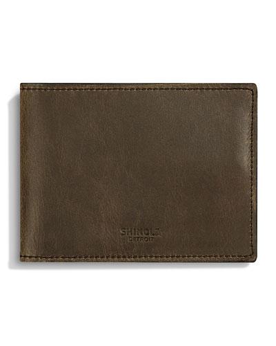 Slim Leather Bi-Fold Wallet