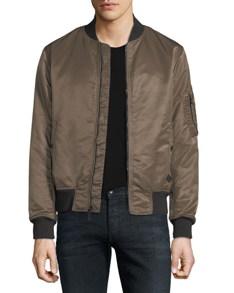 Rag & Bone Manston Military-Style Nylon Bomber Jacket