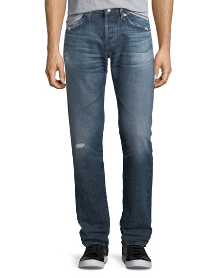 AG Adriano Goldschmied Matchbox Slim-Straight Jeans in 17