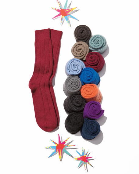 Men's Ribbed Cashmere Socks