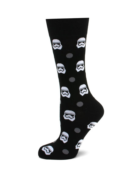 Cufflinks Inc. Star Wars Stormtrooper Dot Socks