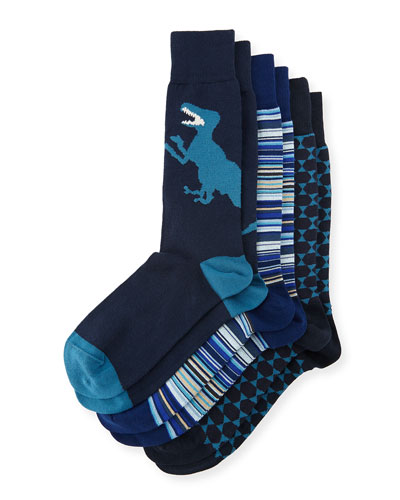 3-Pack Graphic Socks