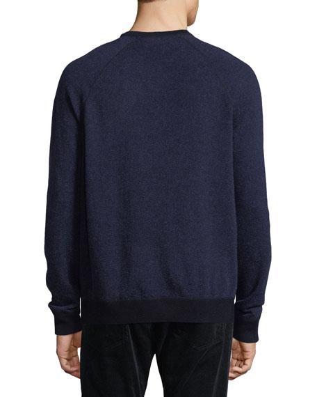 Cashmere-Blend Birdseye-Knit Sweater