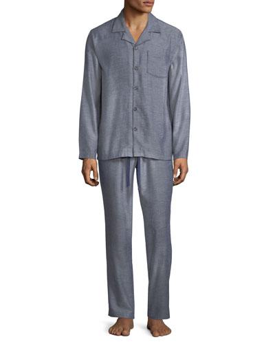 Benidikt Herringbone Pajama Set