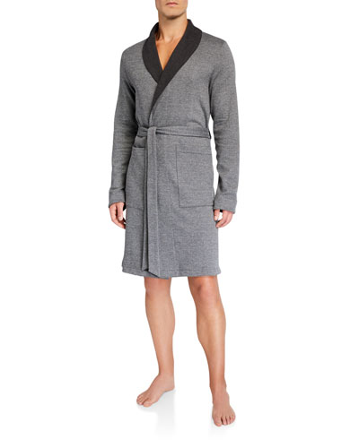 Cotton/Wool Interlock Robe