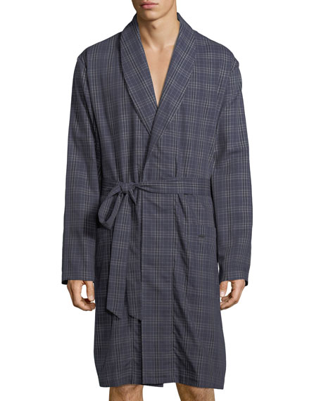 Hanro Fynn Woven Plaid Robe
