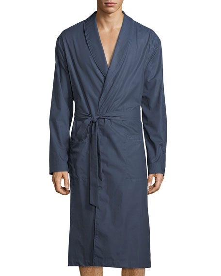 Henry Dotted Chambray Robe
