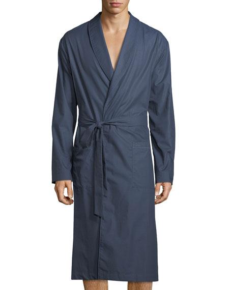 Hanro Henry Dotted Chambray Robe