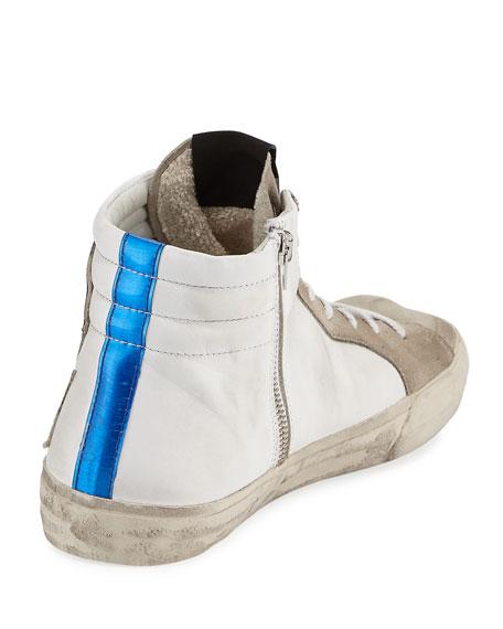 Men's Moon Landing Star Suede High-Top Sneakers, White