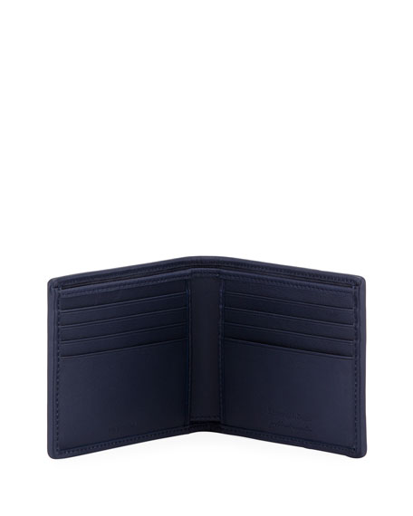 Pelle Tessuto Leather Bifold Wallet
