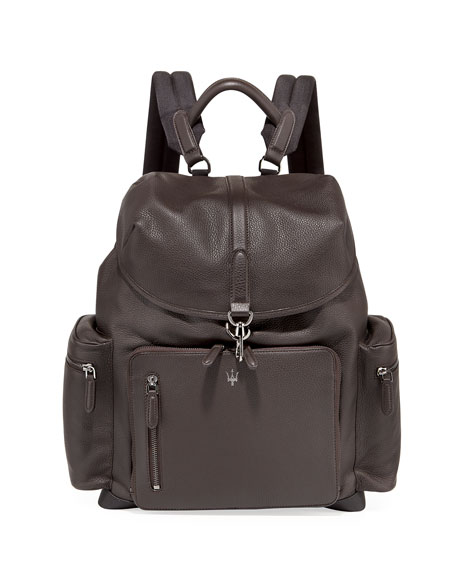 Ermenegildo Zegna Maserati Leather Backpack