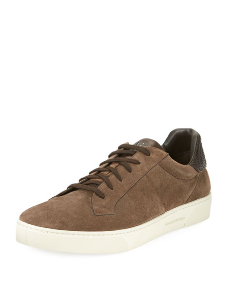 Ermenegildo Zegna Vulcanizzato Men's Suede Low-Top Sneaker with