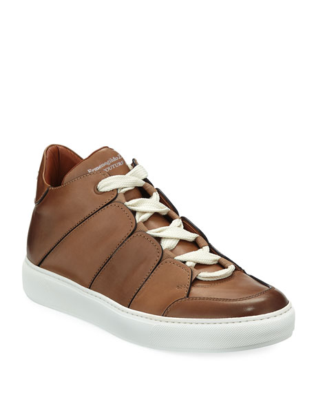 Ermenegildo Zegna Tiziano Leather Low-Top Sneaker and Matching