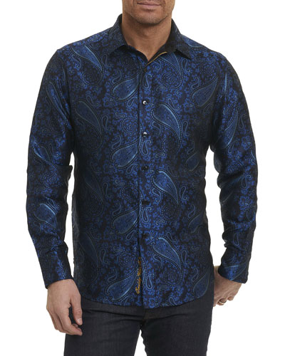 Quaking Aspen Paisley Silk Shirt