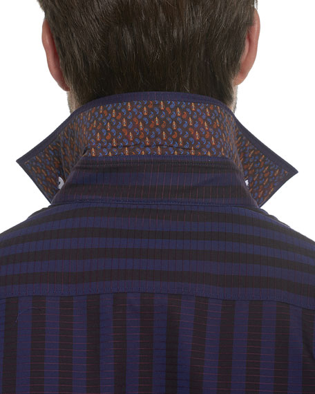 Fort Crown Grid-Print Sport Shirt