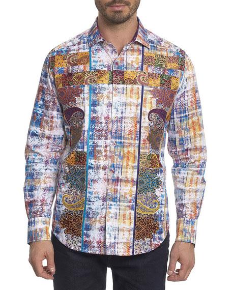 Sirmanator Paisley-Print Sport Shirt