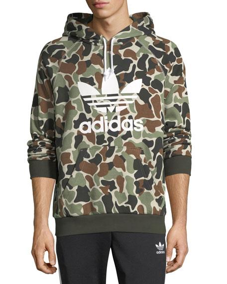 adidas camo hoodie sweatshirt w logo neiman marcus. Black Bedroom Furniture Sets. Home Design Ideas