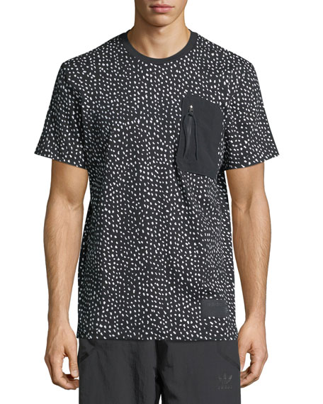 Adidas NMD Dot-Print T-Shirt w/ Zip Pocket
