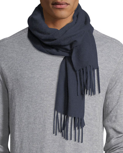SOLID NAVY CASHMERE SCARF