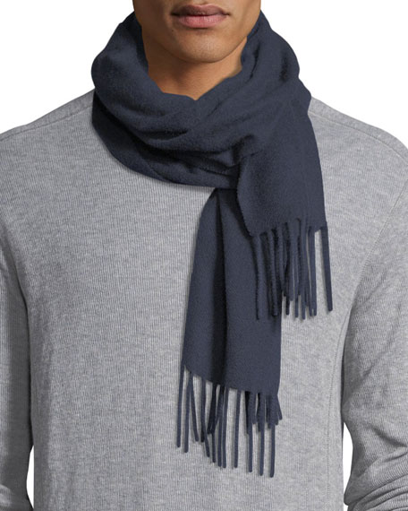 Solid Cashmere Scarf, Navy