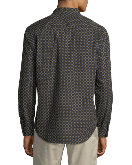 Ellipse-Print Cotton Sport Shirt