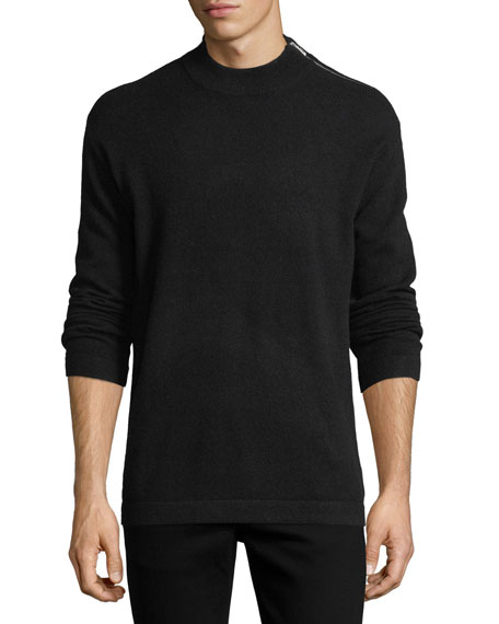 Cashmere Moran Zip-Detail Sweater
