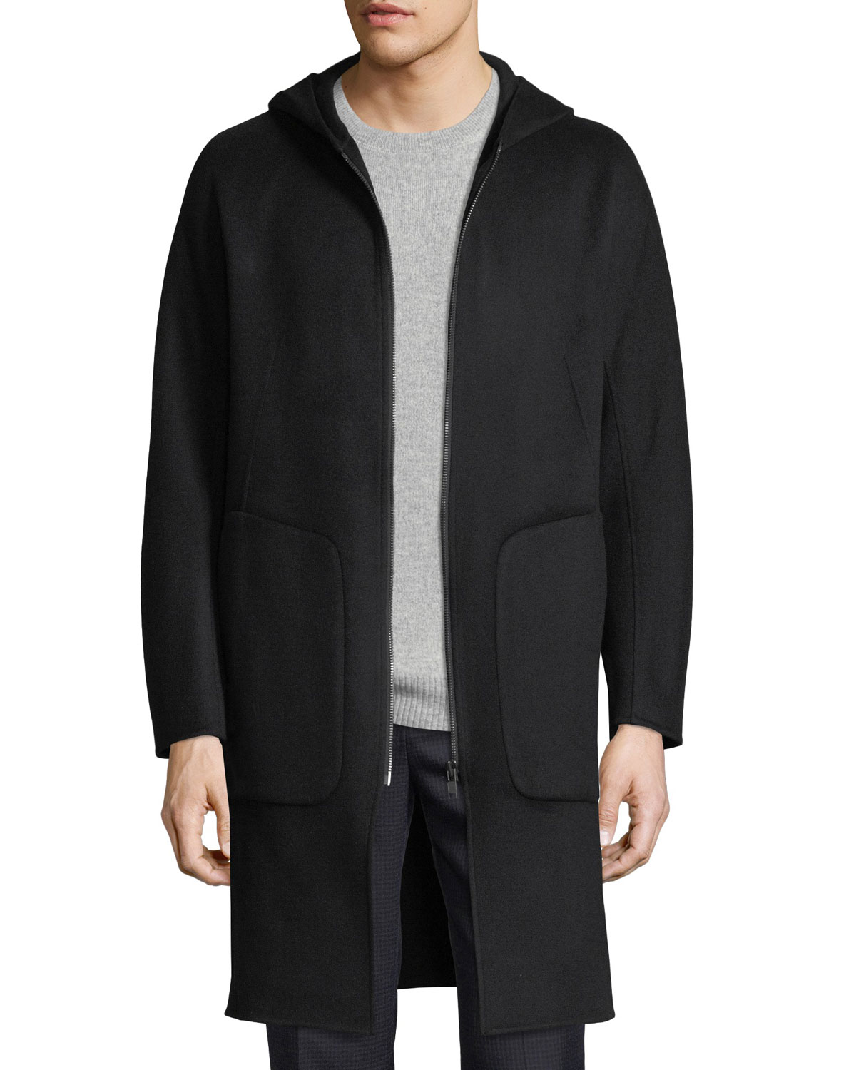 bdc66439c8dc Theory Double-Faced Wool Duffle Coat | Neiman Marcus