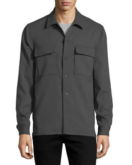 Mory Double Wool Shirt Jacket