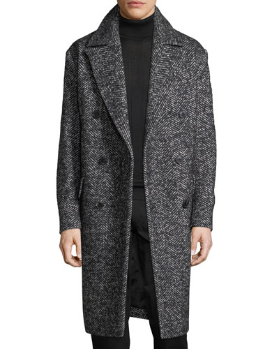 Oversize Wool-Blend Boucle Coat